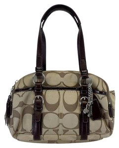 Coach Khaki Monogram Sectioned Hobo Bag