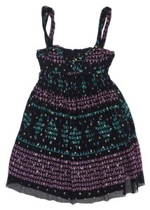Nicole Miller short dress Multi Color Silk Empire Wasit on Tradesy