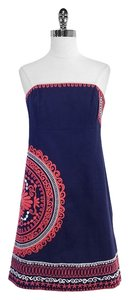 Lilly Pulitzer short dress Navy & Pink Embroidered on Tradesy