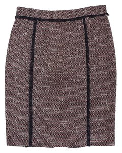 RED Valentino Pink & Black Tweed Pencil Skirt
