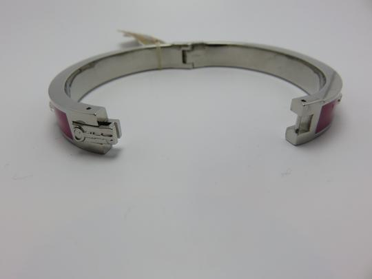 Fossil Nwt Fossil Silver Tone Stainless Purple Enamel And Stones Bracelet