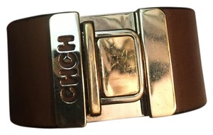 Carolina Herrera CH Tan Leather Bracelet