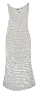 Vivienne Tam short dress White Sequin Knit Tank on Tradesy