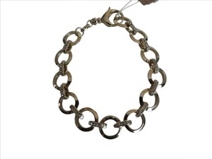 Fossil Nwt Fossil Gold Tone Circle Link Pave Bracelet or Charm Bracelet 7.5