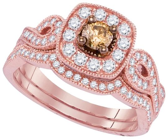 Other Luxury Designer 14k Rose Gold 0.76 Cttw Cognac Diamond Fashion Ring By BrianGdesigns