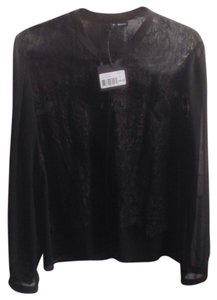 The Kooples Lace Button Down Shirt black