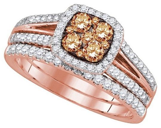 Other Luxury Designer 14k Rose Gold 1.00 Cttw Cognac Diamond Fashion Ring By BrianGdesigns
