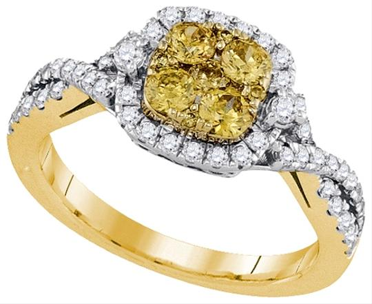 Other Luxury Designer 14k White Gold 1.01 Cttw Yellow Diamond Fashion Ring By BrianGdesigns