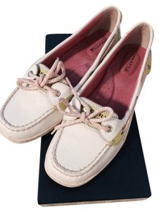 Sperry Lime And Pink Flats