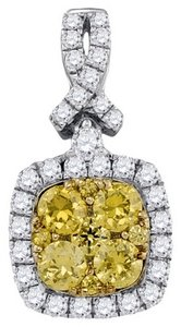 Luxury Designer 14k White Gold 1.02 Cttw Yellow Diamond Fashion Pendant By BrianGdesigns