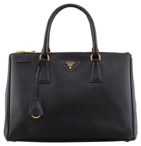 Prada Saffiano Gray Tote in Black