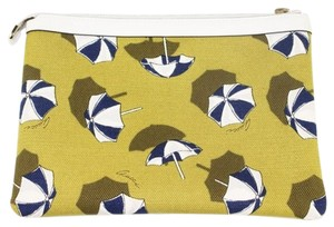 Gucci Gucci Beach Umbrella Yellow Canvas and Leather Cosmetic Bag