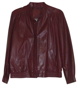 Winlit by Listeff Fashions Inc. Red Leather Jacket