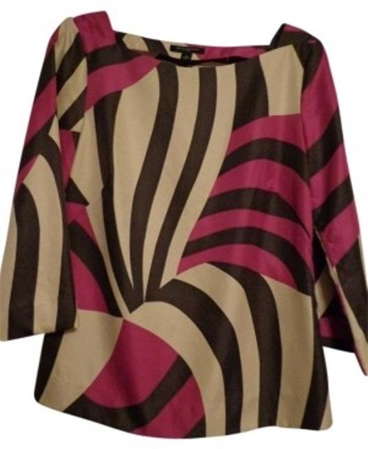 Preload https://item3.tradesy.com/images/banana-republic-purple-brown-and-cream-printed-blouse-size-4-s-17192-0-0.jpg?width=400&height=650
