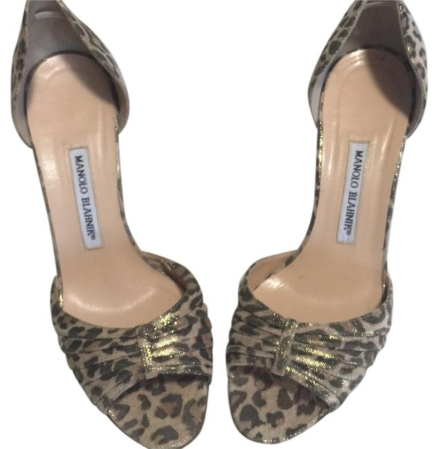 Item - Brown/ Gold Leopard D'orsey Pumps Size US 9.5 Narrow (Aa, N)