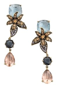 JEWELMINT Jewelmint Forever Floral Flower Blue Pink Orange Purple Crystals Dangle Drop Statement Post Earrings