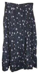 Kathie Lee Collection Skirt Navy Blue