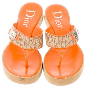 Dior Monogram Beige, Orange Sandals