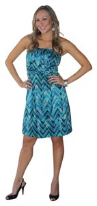 Gianni Bini Tribal Structured Strapless Dress
