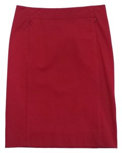Diane von Furstenberg Red Zip Pencil Skirt
