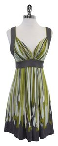 BCBGMAXAZRIA short dress Grey Green Striped on Tradesy