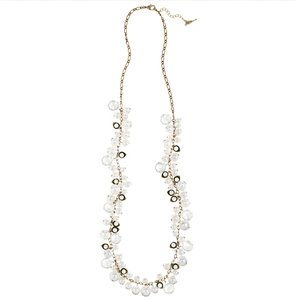 Chloe + Isabel Pearl + Crystal Drops Long Necklace