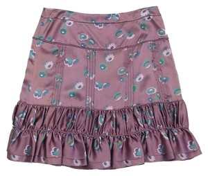 Marc Jacobs Mauve Pleated Ruffled Skirt