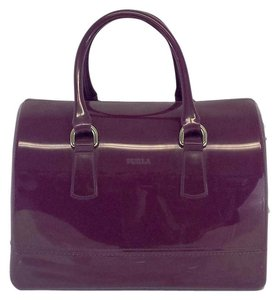 Furla Plum Jelly Bowler Hobo Bag