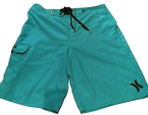 Hurley Board Shorts Turqoise with black trim
