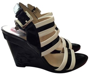 Michael Kors Black/White Wedges