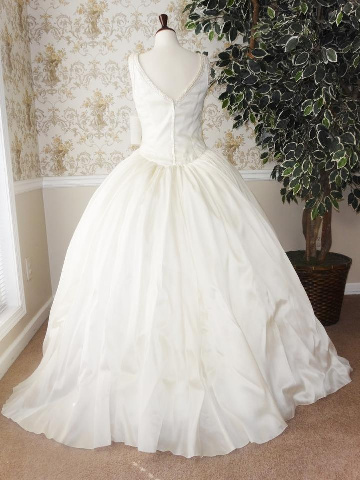 Priscilla of boston vintage silk organza wedding dress on for Silk organza wedding dress