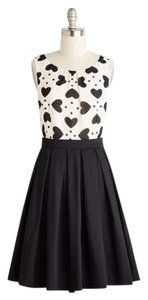 Modcloth short dress Black/Cream on Tradesy