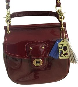 Coach Patent Leather New Willis Cross Body Bag