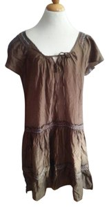 Tommy Bahama Peasant Sundress latin ruffle cotton / silk M L