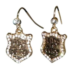 Juicy Couture JUICY COUTURE GOLD PLATED DANGLE EARRINGS