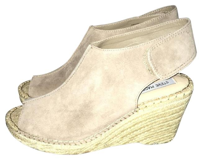Steve Madden Taupe Suede Wedges Size US 8.5 Regular (M, B) Steve Madden Taupe Suede Wedges Size US 8.5 Regular (M, B) Image 1