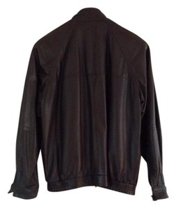 Bruno Magli BROWN Leather Jacket