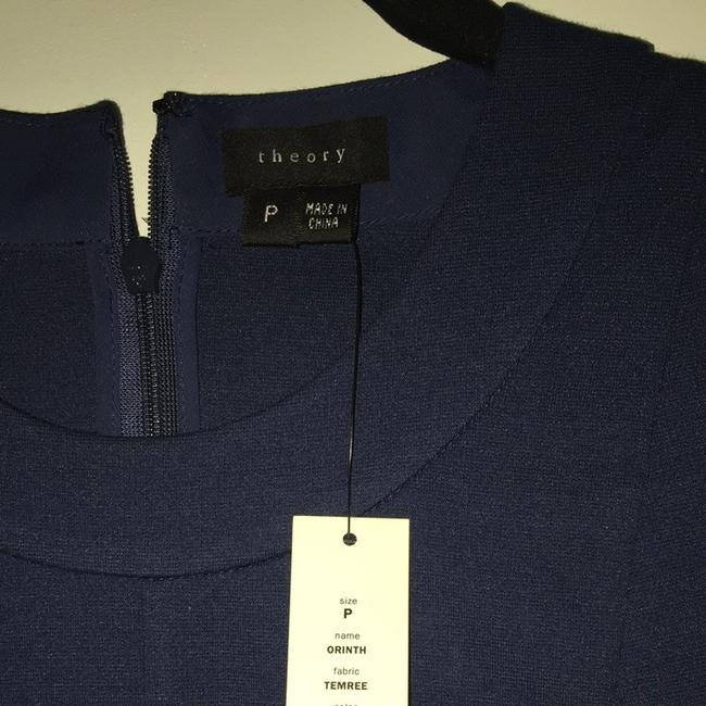 Theory Work Fitted Shell Top Navy