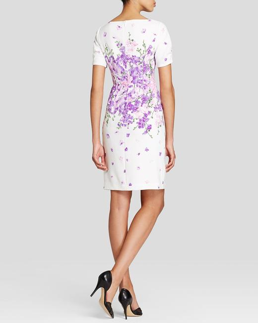 Adrianna Papell Summer Purple Flower Floral Sale Dress Image 1
