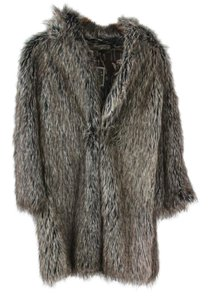 Burning Torch Faux Fur Faux Fur Fur Coat