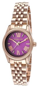 Michael Kors Michael Kors Lexington MK3273 Rose Gold Stainless Purple Dial Watch