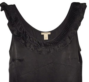 J.Crew Silk Tank Work Ruffle Top Dark grey