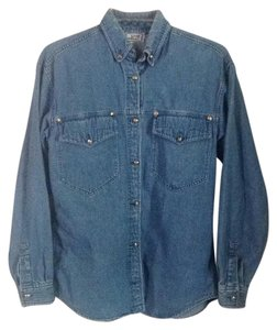 Versace Button Down Shirt Medium denim blue