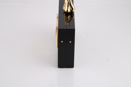 Charlotte Olympia Lips Black/Gold Clutch Image 3