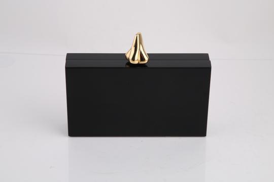 Charlotte Olympia Lips Black/Gold Clutch Image 4