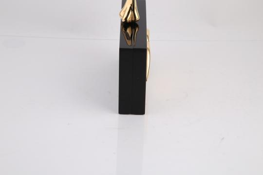 Charlotte Olympia Lips Black/Gold Clutch Image 5