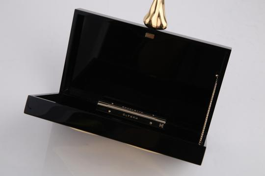 Charlotte Olympia Lips Black/Gold Clutch Image 9