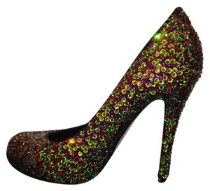 Hendrick Brun Multi color Swarovski Crystal Pumps