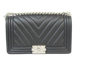 Chanel Front Flap Le Boy Shoulder Bag