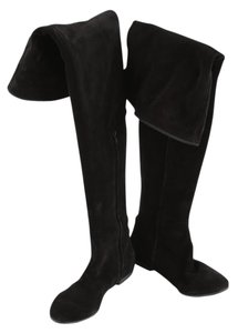 Giuseppe Zanotti Thigh High Suede Six Black Boots